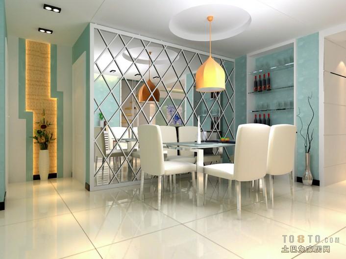 平方三居餐厅混搭装修设计效果图厨房潮流混搭餐厅设计图片赏析