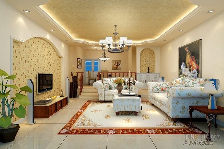 质朴82平混搭二居客厅装修装饰图潮流混搭设计图片赏析