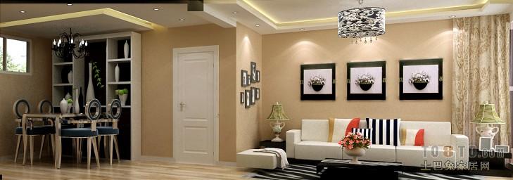 精致66平混搭二居客厅装饰图客厅潮流混搭客厅设计图片赏析