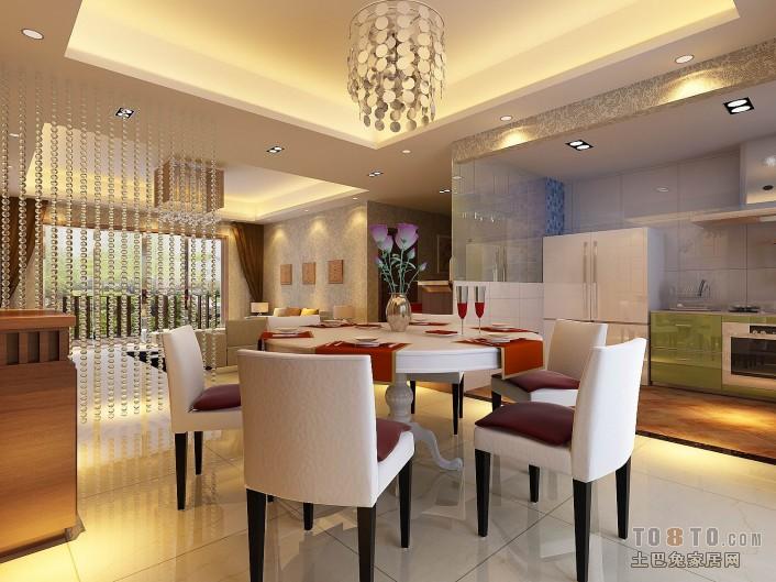 平米三居餐厅混搭实景图片大全厨房潮流混搭餐厅设计图片赏析