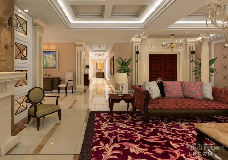 1楼大厅6客厅潮流混搭客厅设计图片赏析