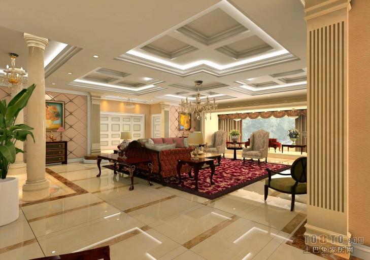1楼大厅1客厅潮流混搭客厅设计图片赏析