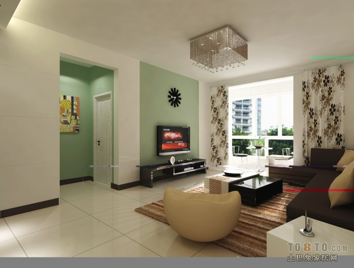 简洁57平混搭二居客厅实拍图客厅潮流混搭客厅设计图片赏析