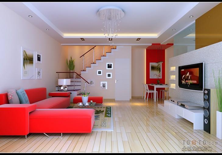 精致83平混搭复式客厅实拍图客厅潮流混搭客厅设计图片赏析