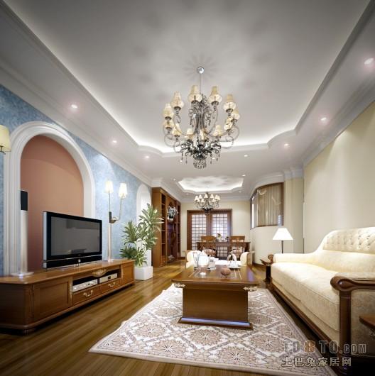 2018大小105平混搭三居客厅装修欣赏图客厅潮流混搭客厅设计图片赏析