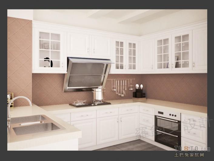 典雅87平混搭三居厨房装修设计图餐厅潮流混搭厨房设计图片赏析