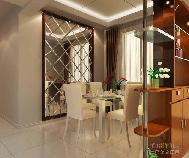 优美89平混搭三居餐厅装饰图厨房潮流混搭餐厅设计图片赏析