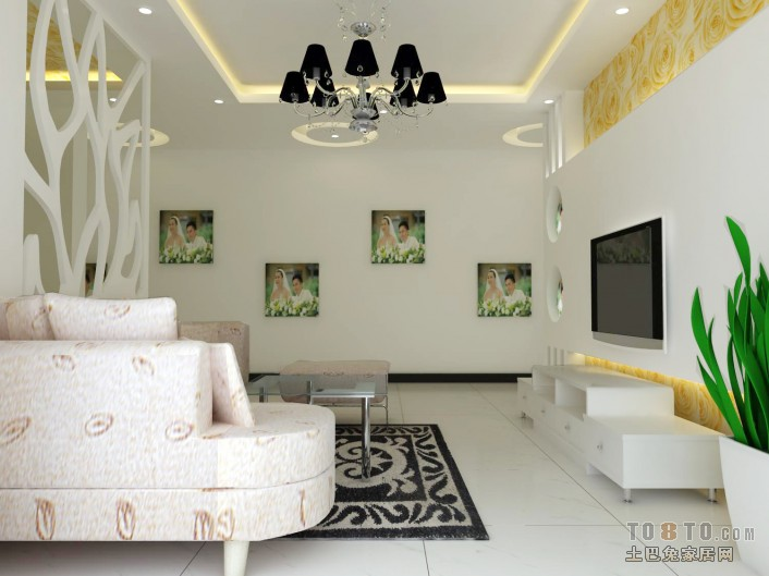 精选93平大小客厅三居混搭装修欣赏图片客厅潮流混搭客厅设计图片赏析