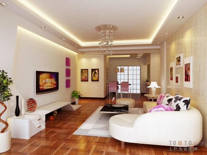 精选90平客厅三居混搭装修效果图客厅潮流混搭客厅设计图片赏析