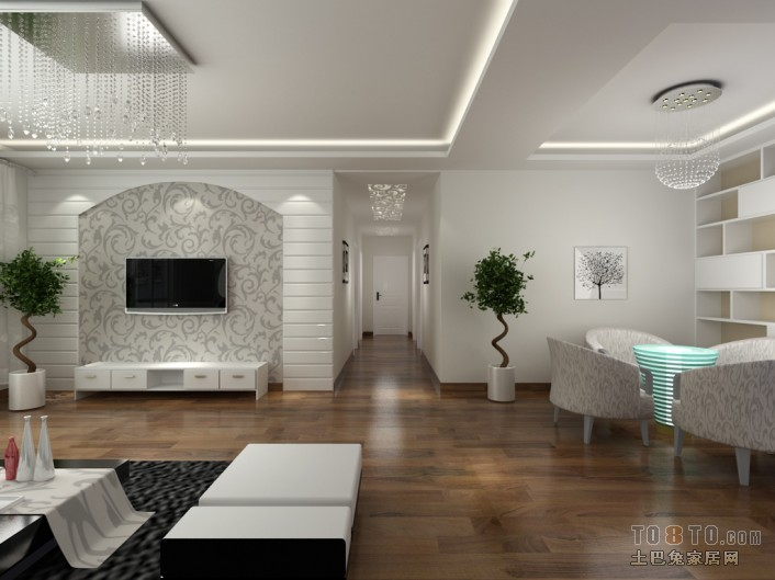 精美126平米四居客厅混搭欣赏图片大全客厅潮流混搭客厅设计图片赏析