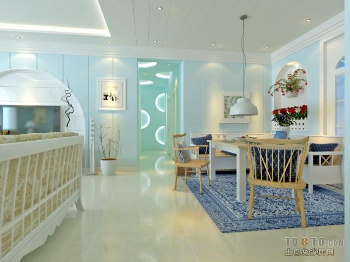 精美混搭3室装修设计效果图99平客厅潮流混搭客厅设计图片赏析
