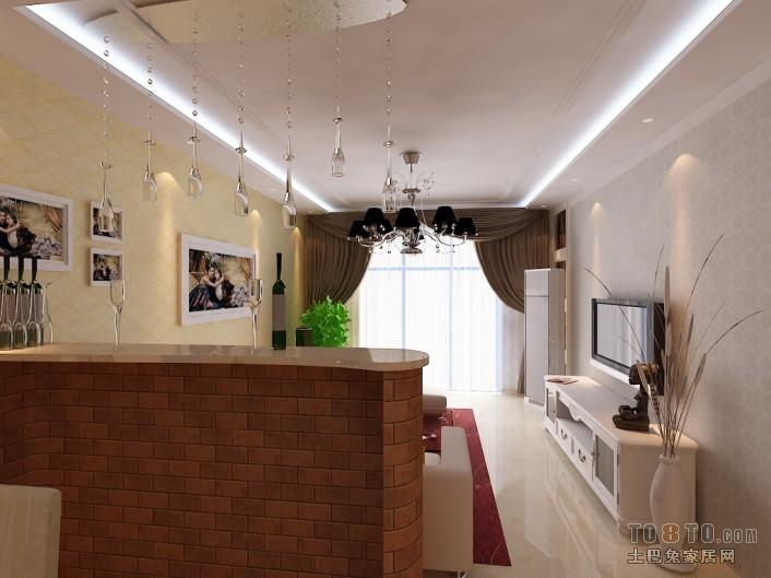 悠雅61平混搭二居客厅装修美图客厅潮流混搭客厅设计图片赏析