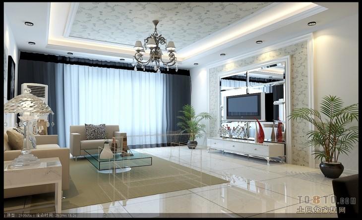 典雅91平混搭三居客厅设计案例客厅潮流混搭客厅设计图片赏析
