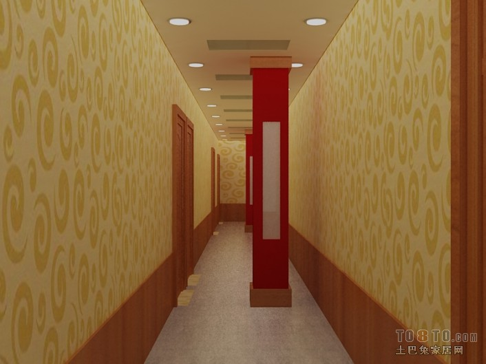 天香轩二楼走廊酒店空间其他设计图片赏析