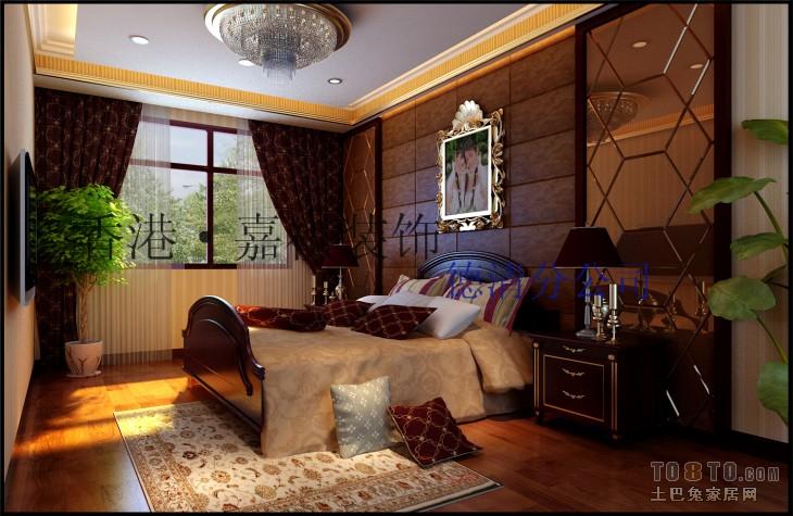 香港·嘉祺(玉墅林枫二楼主卧效果)卧室潮流混搭卧室设计图片赏析