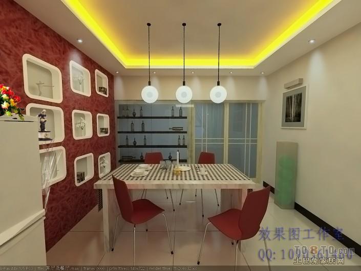 2018面积78平混搭二居餐厅装修效果图厨房潮流混搭餐厅设计图片赏析