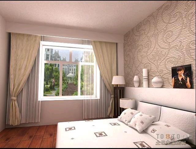 浪漫80平混搭二居卧室装修装饰图卧室潮流混搭卧室设计图片赏析