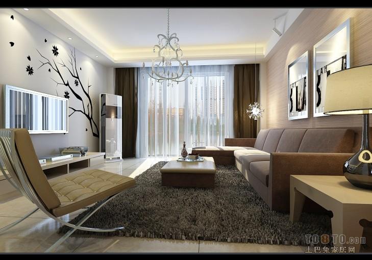 热门103平大小客厅三居混搭设计效果图客厅潮流混搭客厅设计图片赏析
