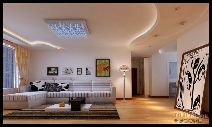 典雅108平混搭三居客厅设计图客厅潮流混搭客厅设计图片赏析