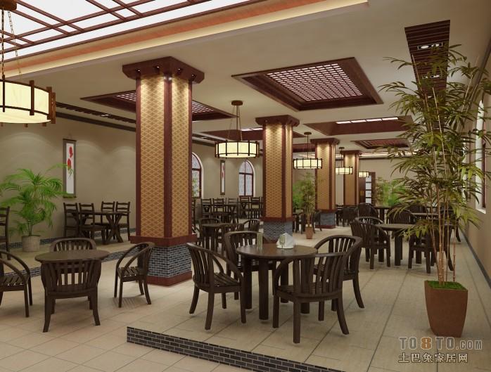 混搭早餐店装修效果图酒店空间设计图片赏析