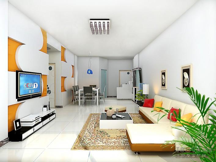 最终效果图客厅潮流混搭客厅设计图片赏析