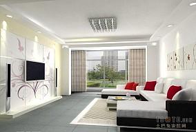 客厅简欧电视背景墙效果图