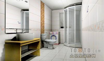 简洁64平混搭二居卫生间图片欣赏卫生间潮流混搭卫生间设计图片赏析