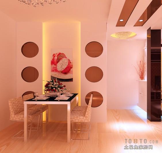 热门面积80平混搭二居餐厅效果图片大全潮流混搭设计图片赏析