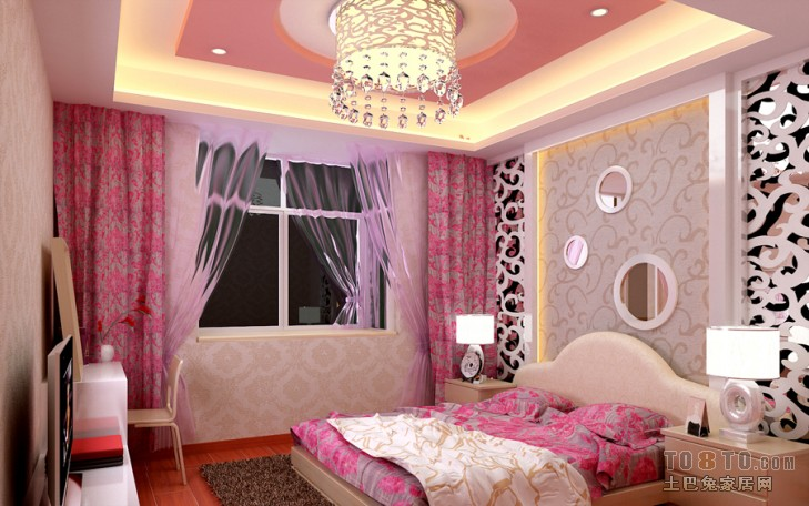 明亮71平混搭二居卧室装修美图卧室潮流混搭卧室设计图片赏析