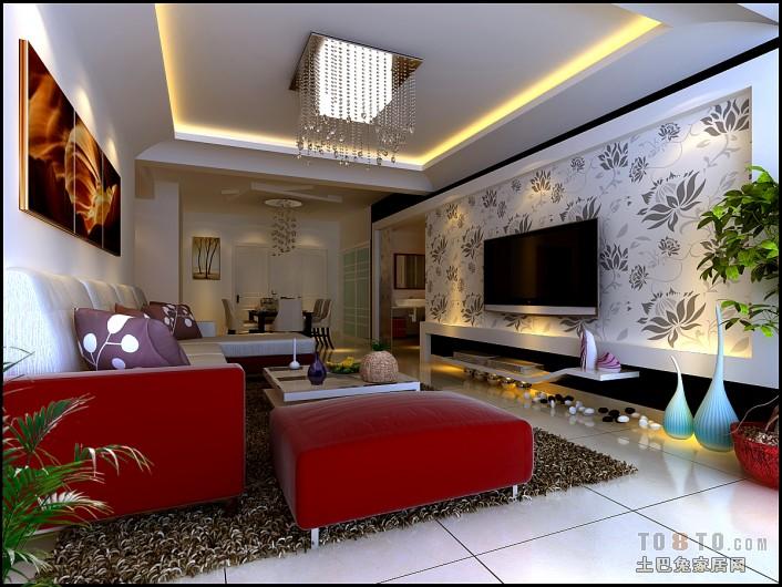 金茂国际7#504客厅潮流混搭客厅设计图片赏析