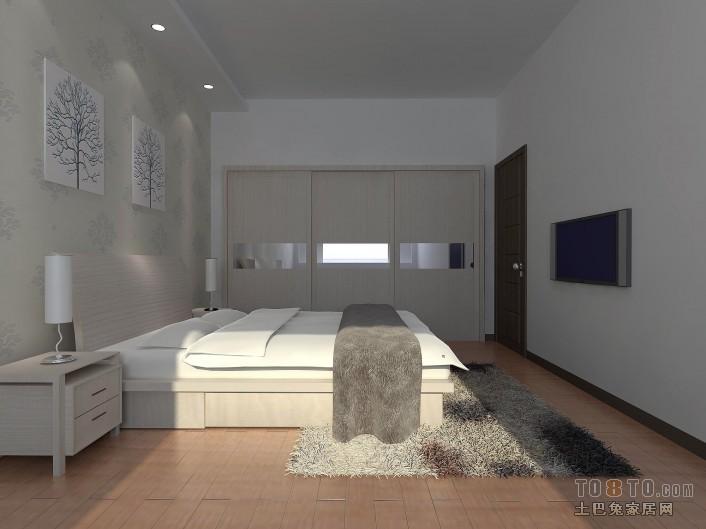 质朴80平混搭二居卧室设计美图潮流混搭设计图片赏析