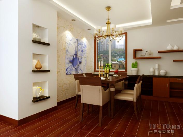 精美121平混搭三居餐厅效果图欣赏厨房潮流混搭餐厅设计图片赏析