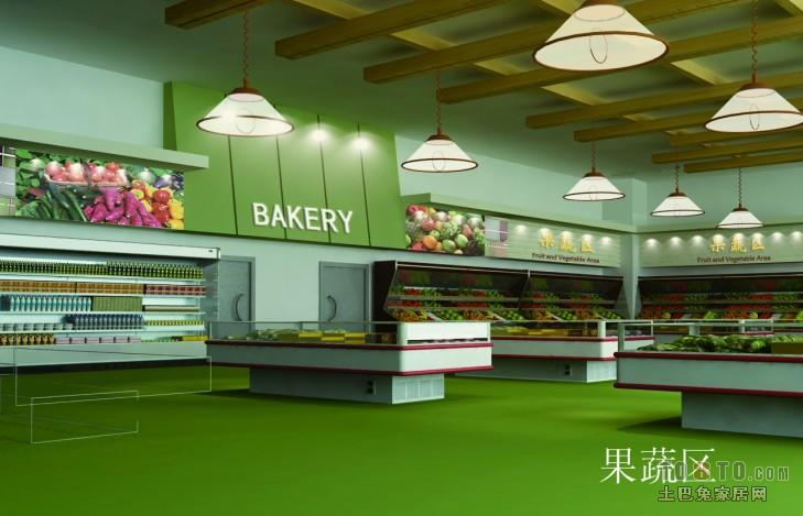 混搭蔬菜店装修效果图大全购物空间设计图片赏析