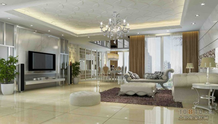 热门面积128平混搭四居客厅装修实景图片客厅潮流混搭客厅设计图片赏析