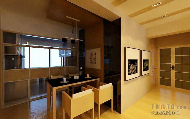 精美面积108平混搭三居餐厅实景图片欣赏厨房潮流混搭餐厅设计图片赏析
