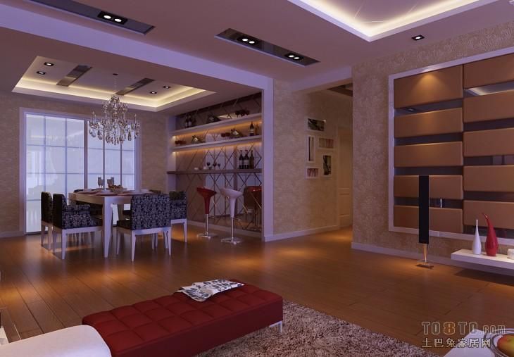 2018混搭3室客厅装修设计效果图片96平客厅潮流混搭客厅设计图片赏析