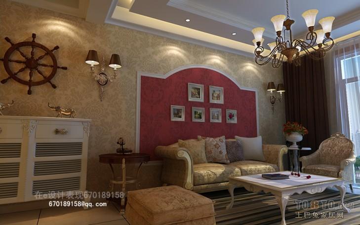 典雅85平混搭三居客厅装修案例客厅潮流混搭客厅设计图片赏析
