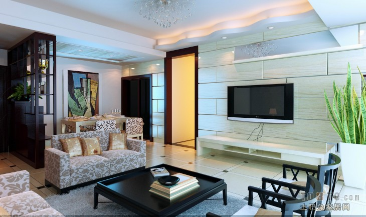 2018精选107平米3室客厅混搭装修实景图片大全客厅潮流混搭客厅设计图片赏析