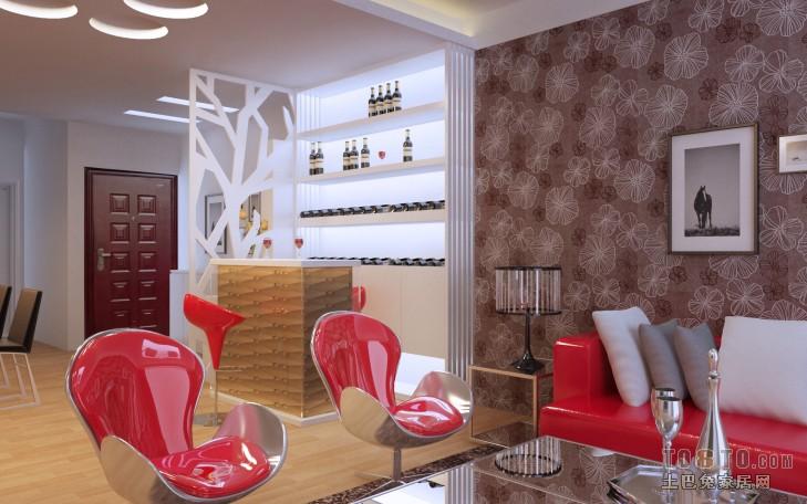 优雅106平混搭三居客厅装修图片客厅潮流混搭客厅设计图片赏析