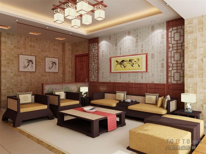 精选91平大小客厅三居混搭效果图客厅潮流混搭客厅设计图片赏析