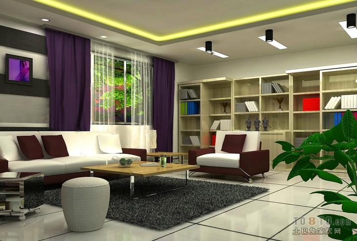 客厅效果图2客厅潮流混搭客厅设计图片赏析