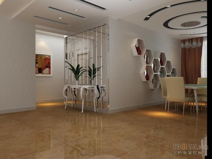 精美93平混搭三居餐厅装饰图厨房潮流混搭餐厅设计图片赏析
