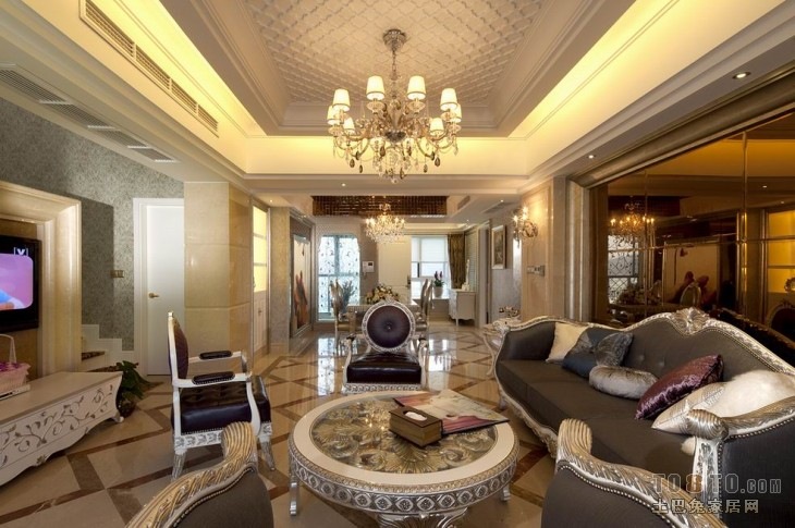 2018精选141平米混搭复式客厅效果图片客厅潮流混搭客厅设计图片赏析