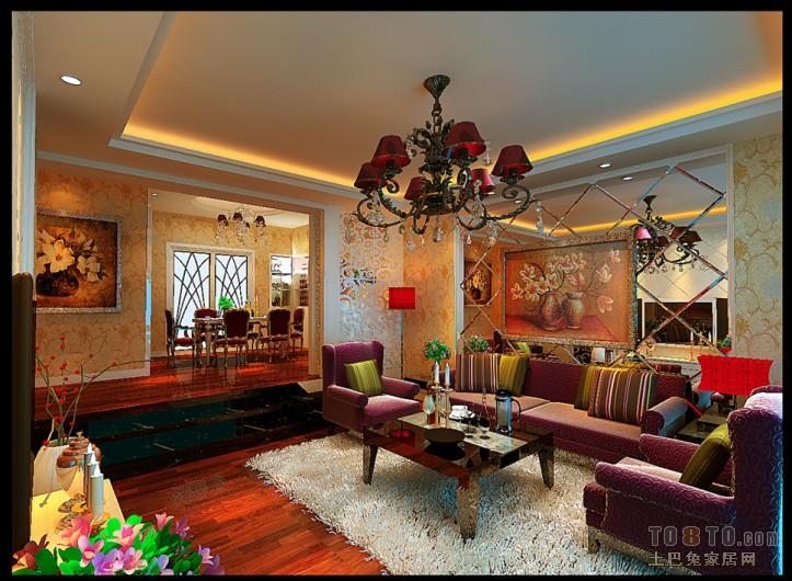 精美106平米3室混搭装修实景图客厅潮流混搭客厅设计图片赏析