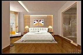 美式实木床图片
