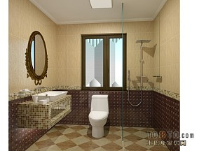 小户型卫生间不锈钢浴室柜效果图