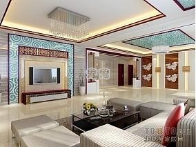 精美120平方四居客厅混搭装修欣赏图片大全