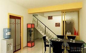 现代餐厅玄关楼梯装修效果图