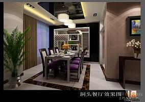 清新典雅美式家装餐厅