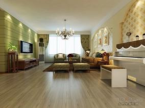 精美田园三居客厅装修效果图片